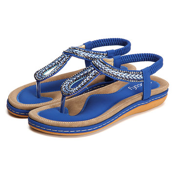 SOCOFY US Size 5-13 Summer Women Soft Outdoor Flat Sandals