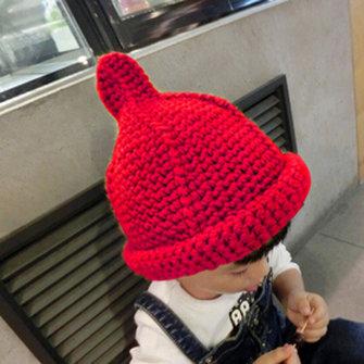 Lovely Winter Kids Knitted Crochet Beanie Hats Knit Cap Baby Boys Girls Toddler