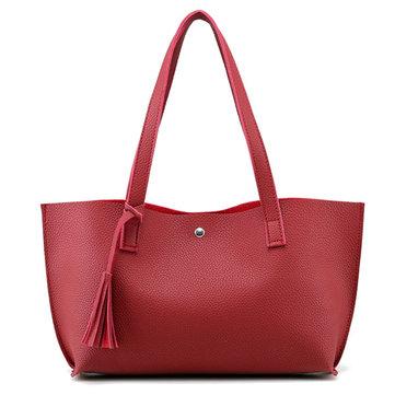VrouwenTasselToteHandtassenSuikergoedKleur Schoudertas Capaciteit Shopping Bags