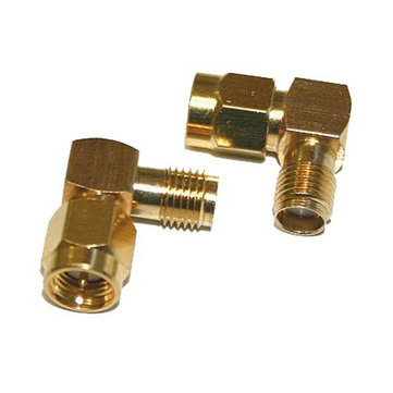 2 PCS SMA Male To Female Adapter Right Angle 90 Degree