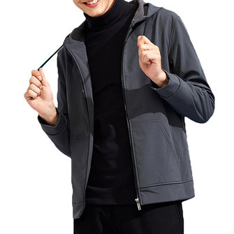 Waterproof Windproof Fleece Warm Hooded Soft Shell Jacket
