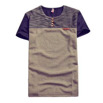 Men's Casual Fashion Mixed Color T-Shirts