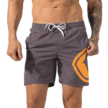 Summer Mens Quick Drying Breathable Shorts Pants Elastic Waist Loose Fit Running Gym Shorts