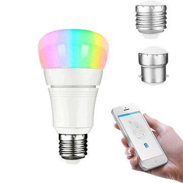E27 B22 8W RGBW WIFI App Control LED Smart Light Bulb Works With Alexa Google Home AC85-265V