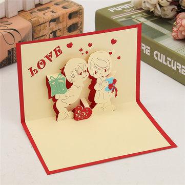 3D pop вверх любовь открытка стол день рождения Рождество открытка подарок ремесло diy