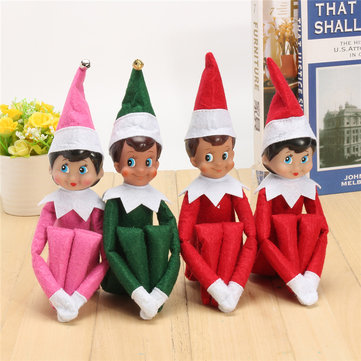 Boy & Girl Figure Christmas Novelty Elf Plush Toys Gift Kids Desktop
