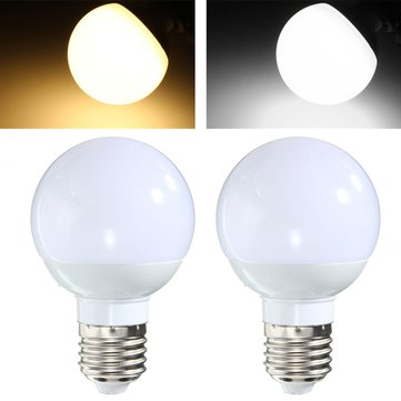 E27 3W 6 SMD5730 LED Pure White Warm White Globe Light Lamp Bulb AC85-265V