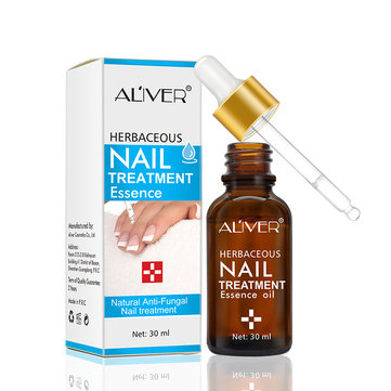 ALIVER Fungal Nail Treatment Essence Oil Finger Toe Care Oil Anti Fungal Nail Infection Essence