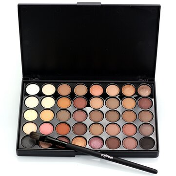 LuckyFine 40 Colors Mini Eyeshadow Palette Set Kit Glitter Shimmer Cosmetic Portable Eye Makeup