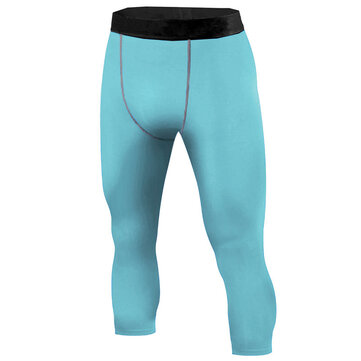 INCERUN Men Sport Compression Mid-rise Calf-Length Pants