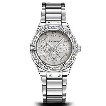 BAOSAILI BSL812 고급 여성용 시계 모조 다이아몬드 슬리버 패션 캐주얼 여성용 쿼츠 시계