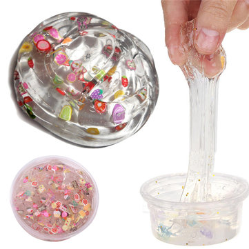 100ML Clear Slime KAWAII Mud Cute Fruit Salad Fimo Crystal Putty Kids Gag Gift Toy