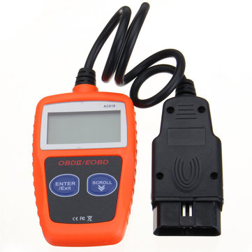 AC618 OBD2 EOBD Car Fault Reader Scanner Diagnostic Tool Data Tester for OBDII