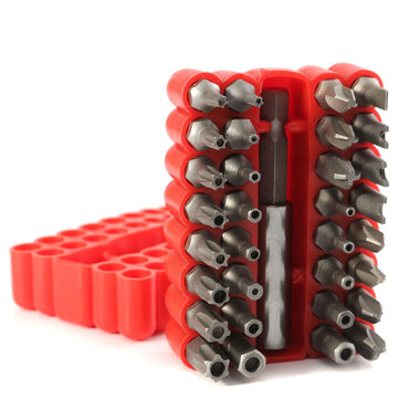 33pcs Security Hole Hex Star Spanner Electric Star Screwdriver Hex Bit Set Magnetic Holder Rod