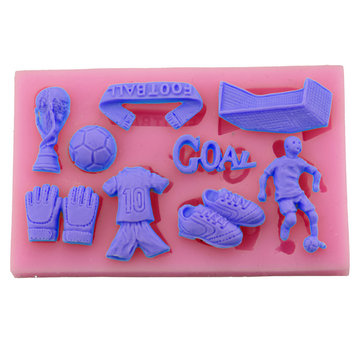 European Cup Football Silicone Fondant Soap 3D Cake Mold Cupcake Jelly Candy Chocolate Decoration Baking Tool Baking Mold