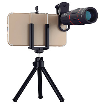 Apexel APL-T18XZJ 18X Telescope Zoom Lens with Mini Desktop Tripod Phone Clip