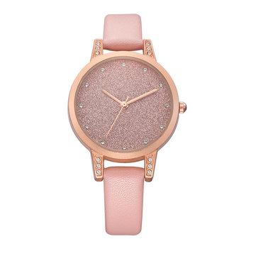 REBIRTH RE018 Rhinestone Elegant Design Women Wrist Watch Rose Gold Case Quartz Watch