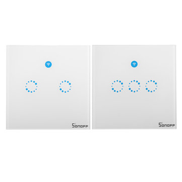 Sonoff WIFI Smart Wall UK Switch Touch Glass Panel With Alexa/Nest/Google Home