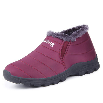 Waterproof Keep Warm Soft Sole Slip On Warm Casual Ankle Boots
