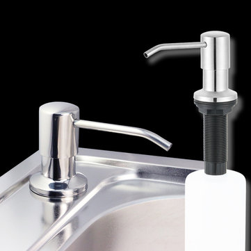 Stainless Steel Kitchen Sink Countertop Soap Dispenser Built in Hand Soap Dispenser Pump