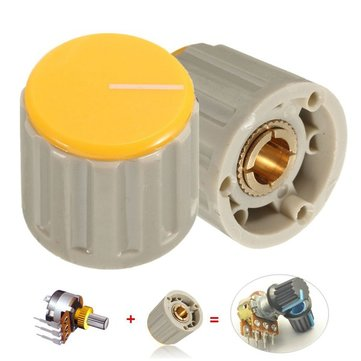 Potentiometer Volume Control Rotary Knob For 6mm Dia Knurled Shaft