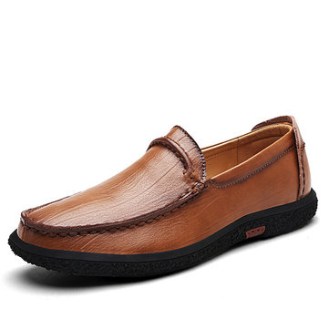 Men Soft Sole Hand Made Comfortable Slip On Leather Loafers
