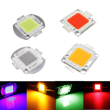 50W Red/Green/Blue/Amber DC32-36V High Power LED Chip Light Lamp Home Car For DIY