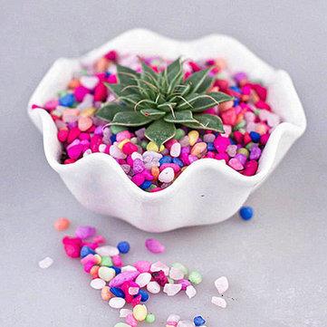 80g DIY Micro Landscape Colroful Stone Decoration Garden Succulent Plants Flower Pot Decor