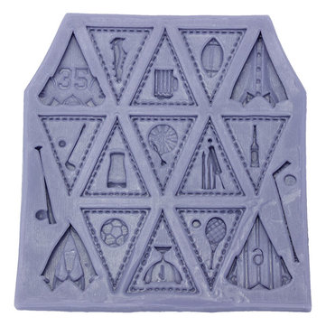 Triangle Flag Football Silicone Mold Fondant Cake Mould Creative Baking Accesseries