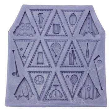 Triangle Flag Football Silicone Mold Fondant Cake Mould Creative Baking Accesseries