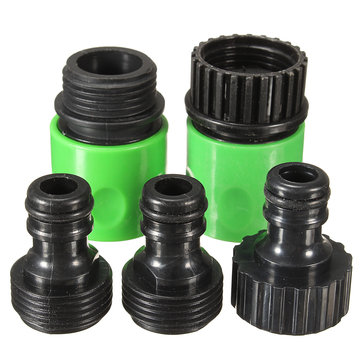 5Pcs Rubber Hose Water Faucet Tap Adapter Rubber Nozzle Washing Pipe Quick Connector Set Kit