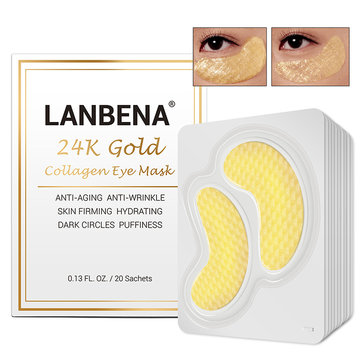 20 Pairs 24K Gold Collagen Eye Mask
