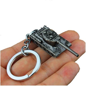 EDC Zinc Alloy Key Chain Fashion Black Tank Shape Key Ring Reduce Lose Cool EDC Gadget
