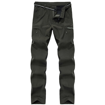 Outdoor Casual Quick Drying Pants Men's High Waist Loose Multi Pockets Pants