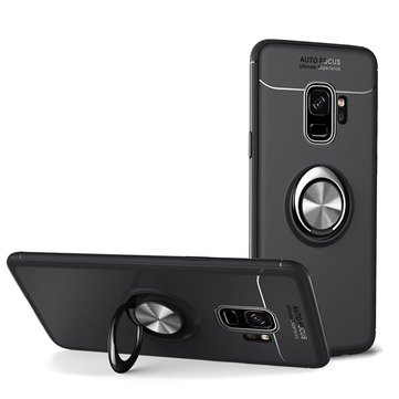 C-KU 360º Rotating Ring Grip Kicktand Protective Case For Samsung Galaxy S9/S9 Plus
