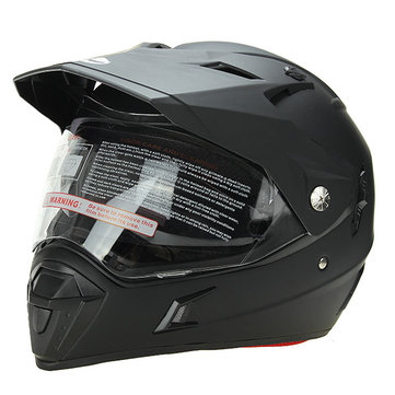 Motorcycle Full Face Helmet Dustproof Casque With Double Visor