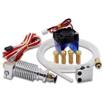 V6 J-head Extruder 1.75mm Volcano Block Long Distance Nozzle Kits With Cooling Fan For 3D Printer