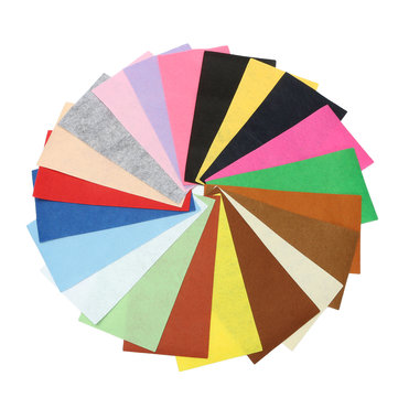 21Pcs Colorful Felt Fabric Sheet Non-Woven for Art Handicraft Sewing DIY Patchwork 10x30cm