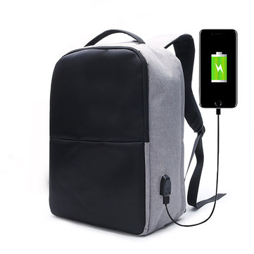 Ekphero® Men Anti Theft Backpack Waterproof Travel Bag With USB Charging Port