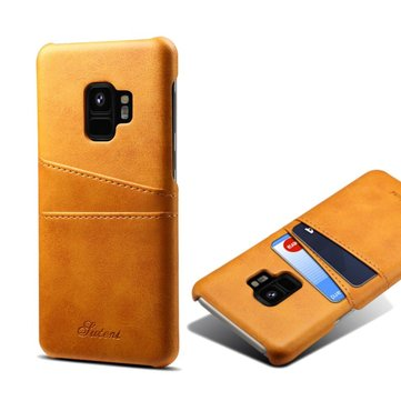 Premium Cowhide Leather Card Slot Case For Samsung Galaxy S9