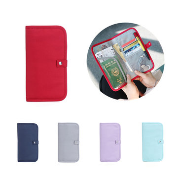 IPRee® Oxford Waterproof Card Holder Multifunctional Travel Passport Cover Storage Wallet