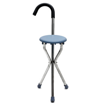 IPRee™ Outdoor Travel Folding Stool Chair Portable Cane Walking Stick Seat Camping Hiking Picnic