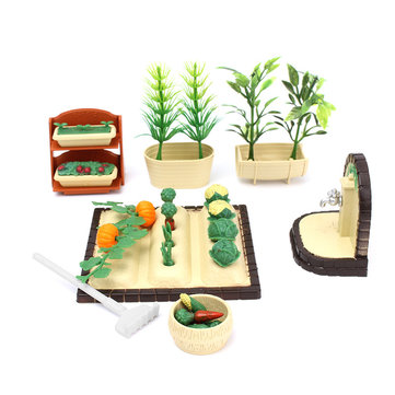 Spring Gardening Dollhouse Play Set Tools with Accessoriess For Sylvanian Families Dolls