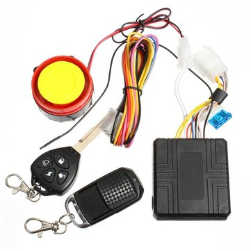 12v Universal Motorcycle Security Alarm System Remote Control