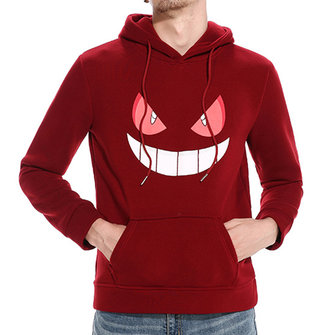 Men's Casual Halloween Pumpkin Smile Pattern Sweatshirt