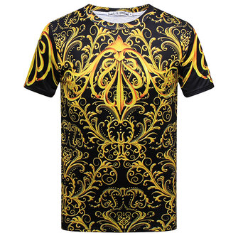 Summer Stylish Mens 3D Royal Printing Casual O-neck Short Sleeve T-shirt