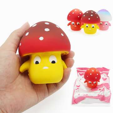 Squishy Paddestoel 9cm Soft Slow Rising Met Packaging Collection Gift Decor Toy