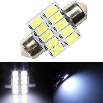 39MM 5630 10SMD Festoon Dome Map Interior LED Light Lamp Bulb Reading Light