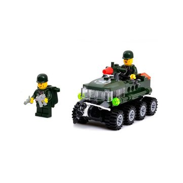 KAZI Building Block Armored Car Educational Gift #6412 Fidget Toys 102Pcs