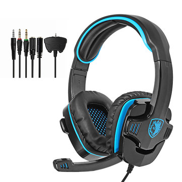 SADES SA-708GT Gaming 3.5mm Jack Stereo Computer Gamer Headset Headphone with Microphone